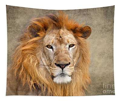 King Of Beasts Portrait Of A Lion Tapestry
