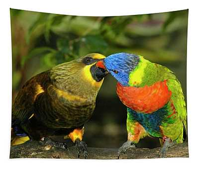Kissing Birds Tapestry