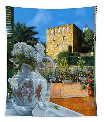 La Tour Carree In Ste Maxime Tapestry