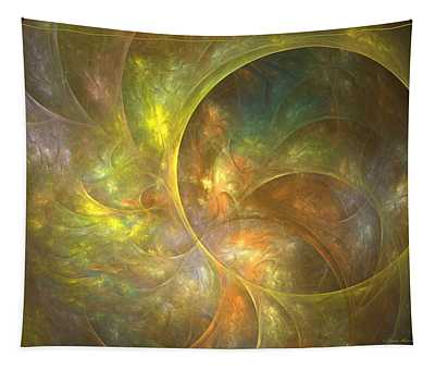 Life Of Leaf - Abstract Art Tapestry