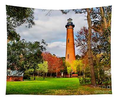 Lighthouse At Currituck Beach Tapestry