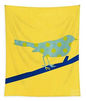 Little Blue Bird Tapestry