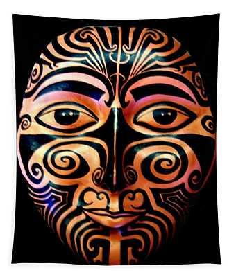 Maori Mask Tapestry