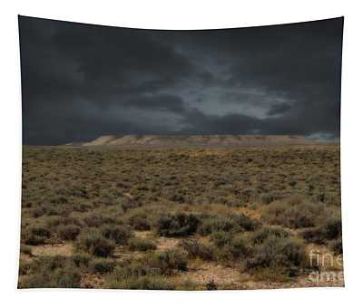 Midnight On The Pairie In Wyoming Tapestry
