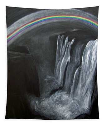 Moonbow Over Victoria Tapestry by Vallee Johnson
