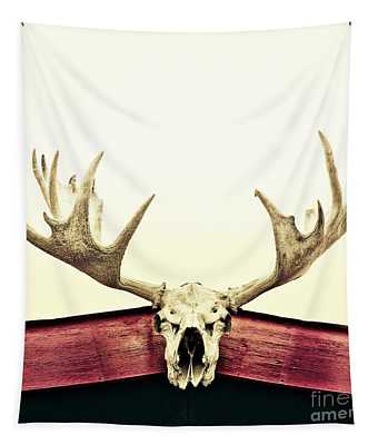 Moose Trophy Tapestry