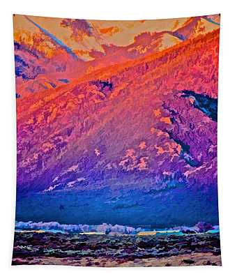 Mt Wheeler At Sunset Tapestry