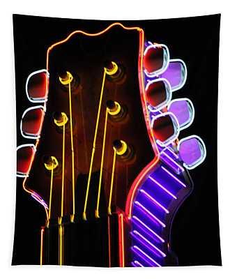 Neon Bridge Tapestry