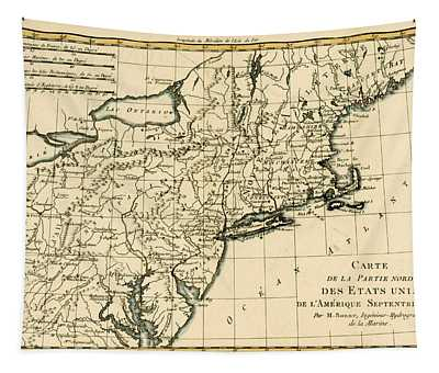 Northeast Coast Of America Tapestry