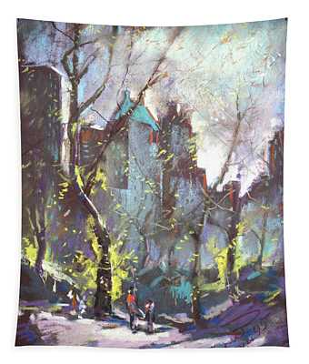 Nyc Central Park Controluce Tapestry