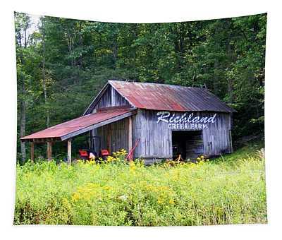 Old Barn Near Silversteen Road Tapestry