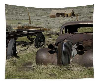 Old Rusted Car Tapestry by Richard Balison
