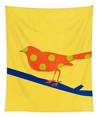 Orange Bird Tapestry