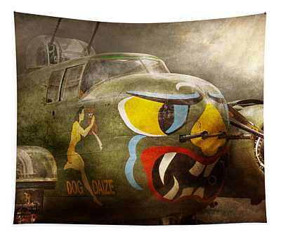 Plane - Pilot - Airforce - Dog Daize Tapestry