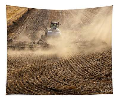 Plowing The Ground Tapestry