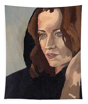 Portrait Of Becca 2 Tapestry