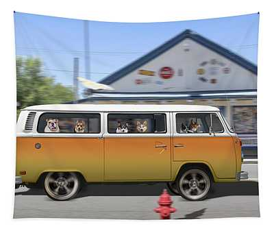 Postcards From Otis - Road Trip  Tapestry