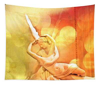 Psyche Revived By Cupid's Kiss Tapestry