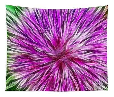 Purple Flower Fractal Tapestry