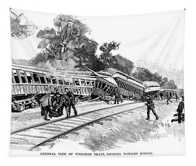 Railroad Accident, 1890 Tapestry