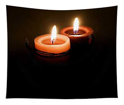 Red Candles Tapestry