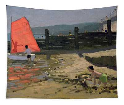 Red Sail Isle Of Wight Tapestry