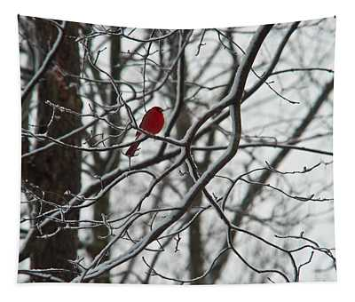 Redbird Poised Tapestry