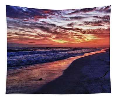 Romar Beach Sunset Tapestry