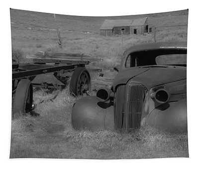 Rusted Car Tapestry by Richard Balison
