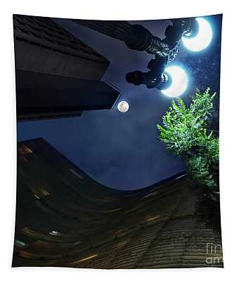 Copan Building And The Moonlight Tapestry