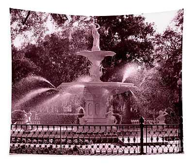 Savannah Fountain In Pink Tapestry