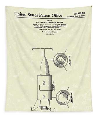 Space Vehicle 1960 Patent Art  Tapestry