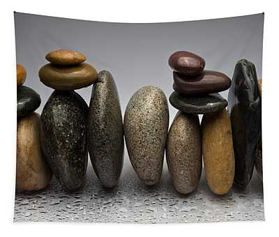 Stacked River Stones Tapestry