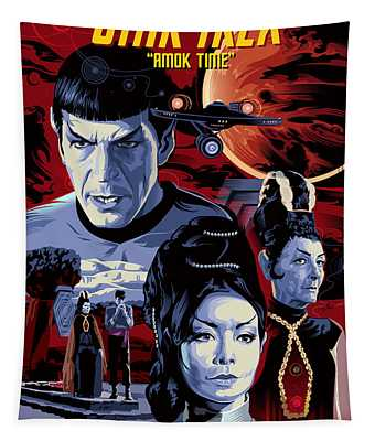 Star Trek Amok Time Tapestry