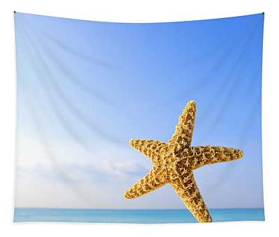 Starfish In Front Of The Ocean Tapestry