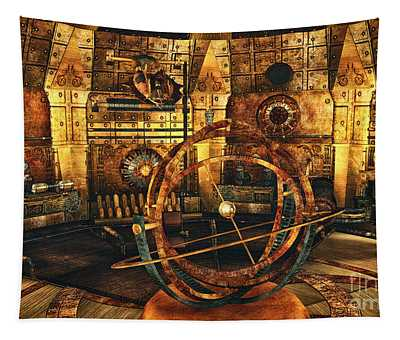 Steampunk Time Lab Tapestry