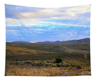 Stormy Wyoming Sunrise I Tapestry