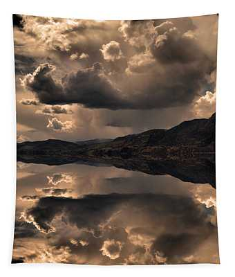 Strange Clouds Reflected Tapestry