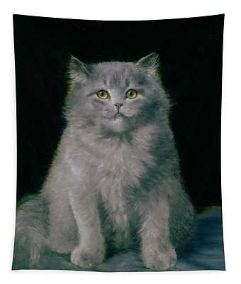 Study Of A Cat  Tapestry