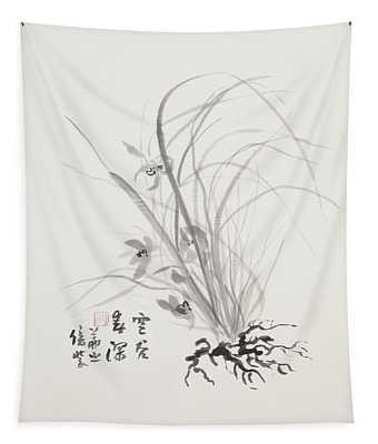 Sumi-e Four Tapestry