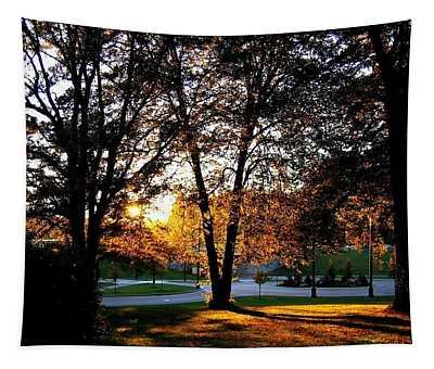 Sundown In Stanley Park Tapestry