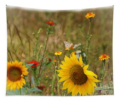 Sunflowers In  The  Wild  Tapestry