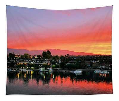 Sunset On Lake Havasu Tapestry