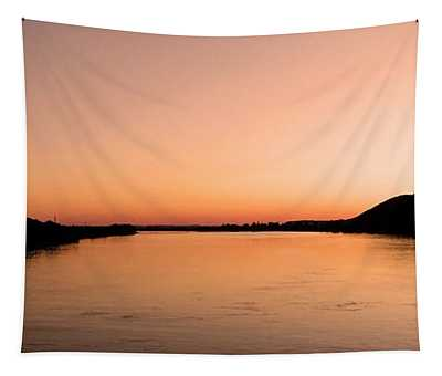Sunset Over The Danube ... Tapestry