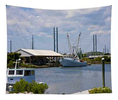 Surf City View Tapestry