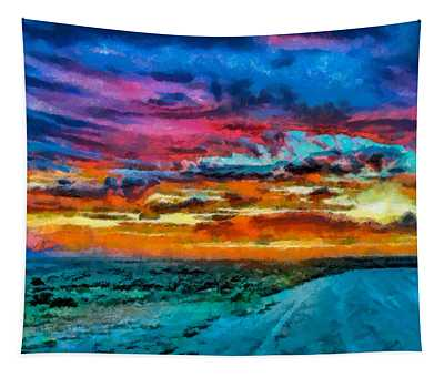 Taos Sunset Iv Wc Tapestry