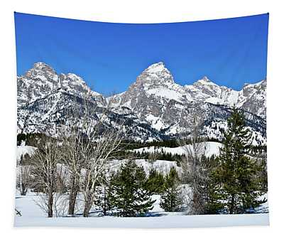 Teton Winter Landscape Tapestry