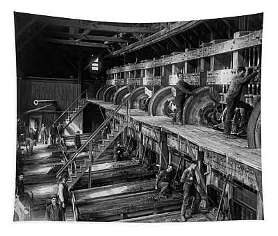 The Deadwood Terra Gold Ore Stamp Mill C. 1888 Tapestry