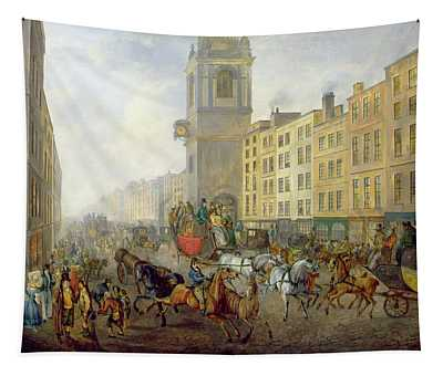 The London Bridge Coach At Cheapside Tapestry