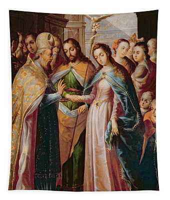The Marriage Of Mary And Joseph Tapestry